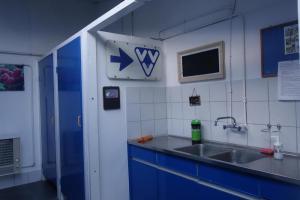 Afwasmogelijkheid in het sanitair